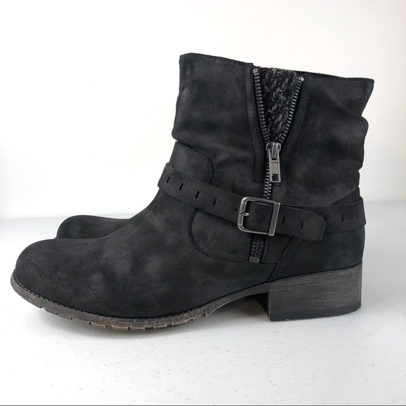 Jellypop Cate distressed black Bootie